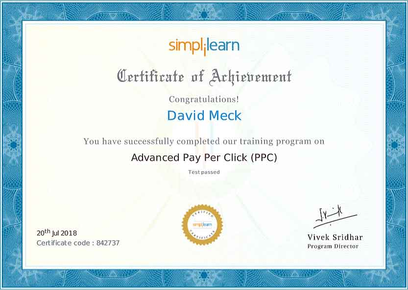 David Meck Advanced PPC Certification