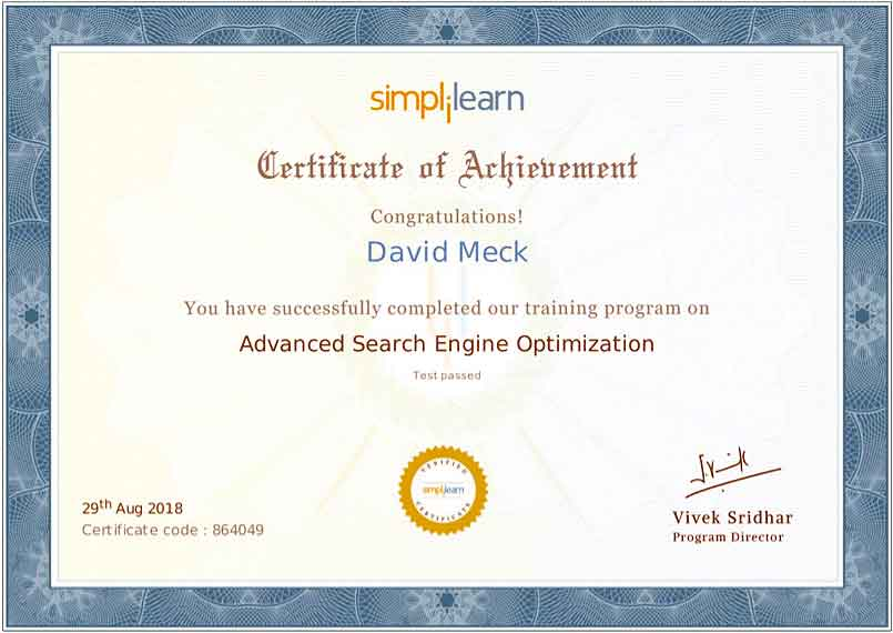David Meck Advanced Search Engine Optimization