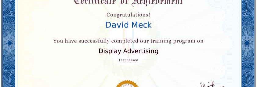 David Meck Display Advertising Certification