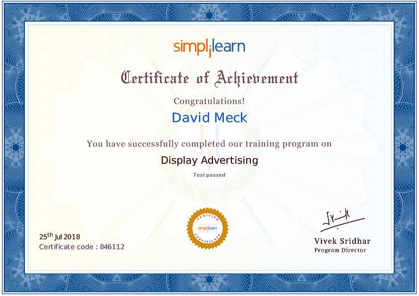 David Meck Display Advertising Certification