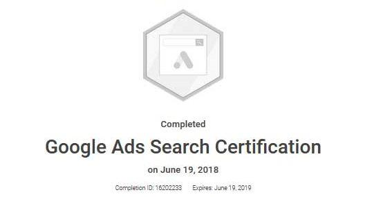 David Meck Google Ads Search Certification