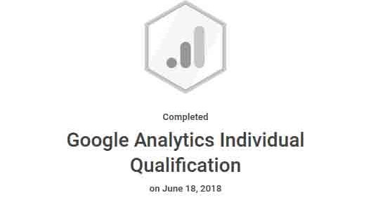 David Meck Google Analytics Individual Qualifications