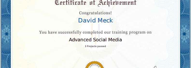 Advanced Social Media Marketing Certification Masters Program