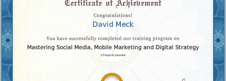 Mastering Social Media, Mobile Marketing and Digital Strategy